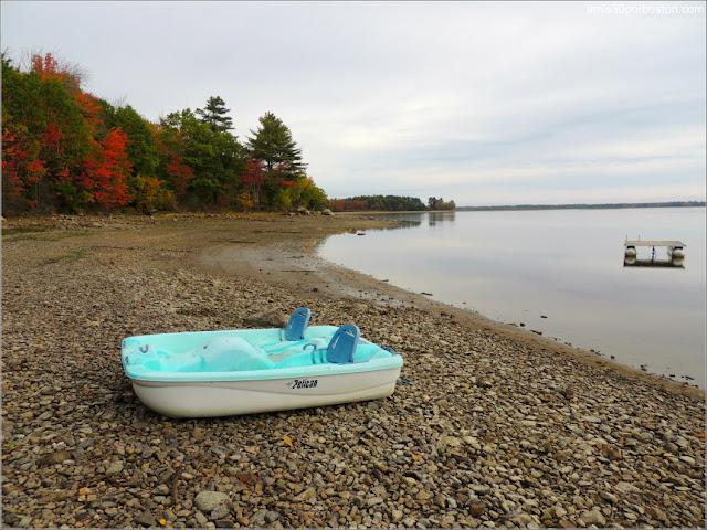 Barcas en el Lago Graham en Maine