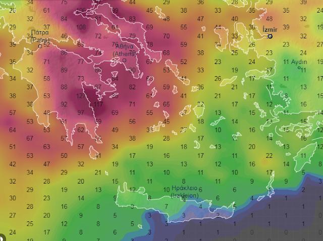 24 - Αλλαγή καιρού στη χώρα τις επόμενες 5 ημέρες