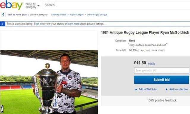 لاعب يعرض نفسه للبيع على موقع Ebay !
