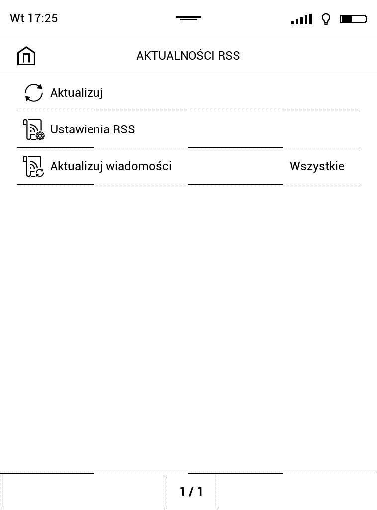 Czytnik kanałów RSS na PocketBook Touch Lux 4