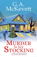 Murder in Her Stocking by G. A. McKevett, book cover and review