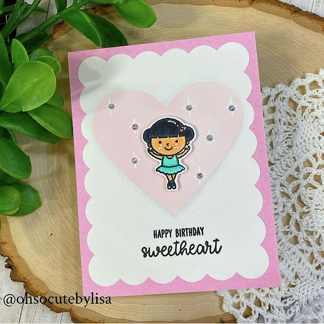 Sunny Studio Stamps: Tiny Dancers Customer Card by Lisa