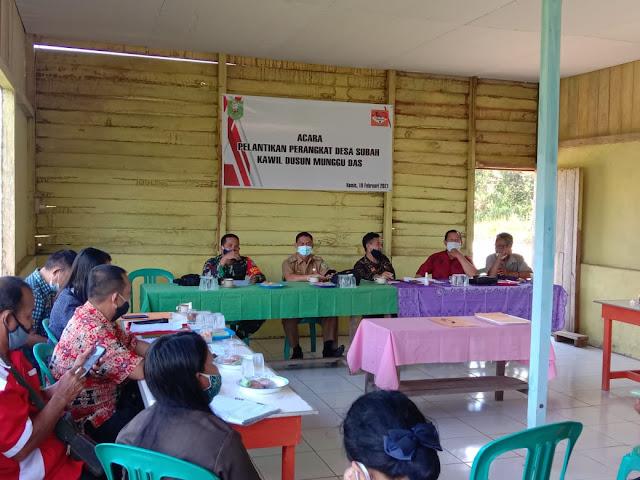 Pelantikan perangkat desa kawil Munggu Das desa Subah