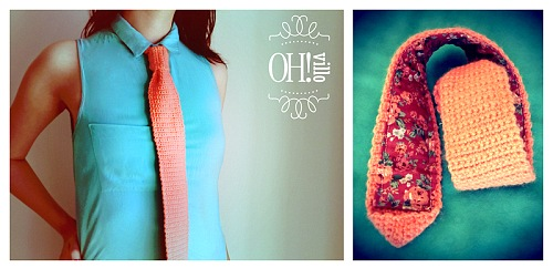 corbatas crochet, corbatas femeninas, instrucciones, ganchillo