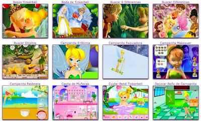 portal de mini juegos online de las aventuras de la hada tinkerbell