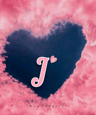 Lovely Pink Heart clouds a to z Letters DP for WhatsApp