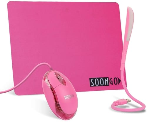Review SOON GO Pink Mouse Pad Kids Mouse for Laptop