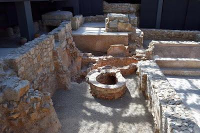 Restos arqueológicos romanos y visigóticos en el Centro de l'Almoina de Valencia