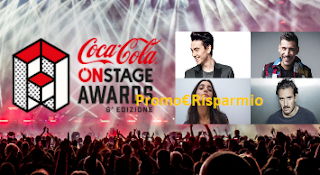 Logo Partecipa gratis a On Stage Awards Coca-Cola e vivi la musica.
