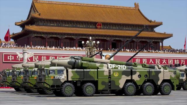 China prueba su avanzado misil DF-21D ante portaaviones de EEUU