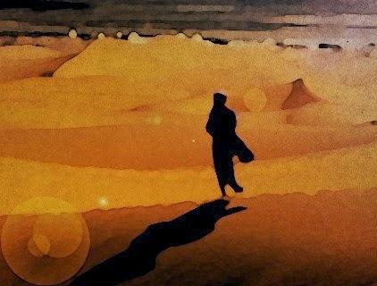 Resultado de imagem para uma mulher andando no deserto
