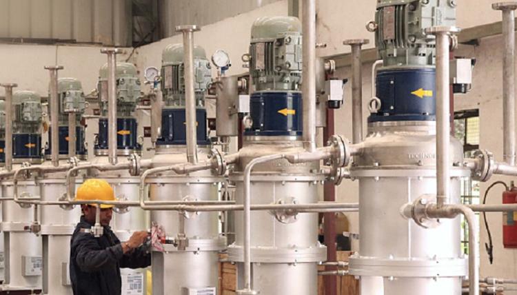 Planta donde se realiza extracción líquido-líquido