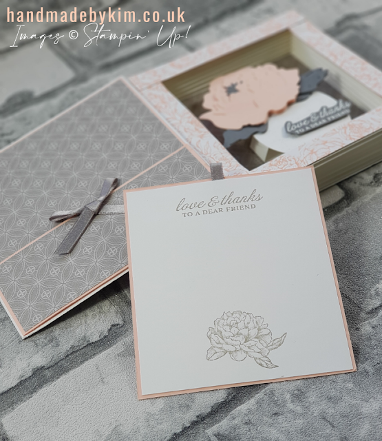 Stampin' Up! Prized Peony Stamp Set & Peony Dies Shadow Box Book Card