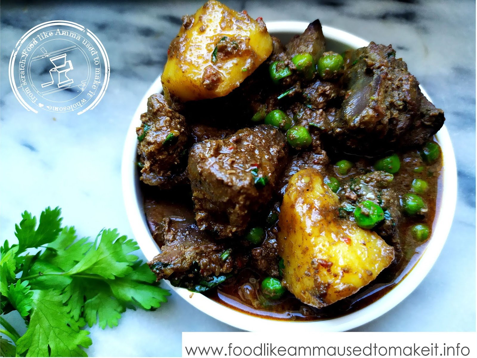 Chicken Liver  Curry Recipe With Potatoes and Peas