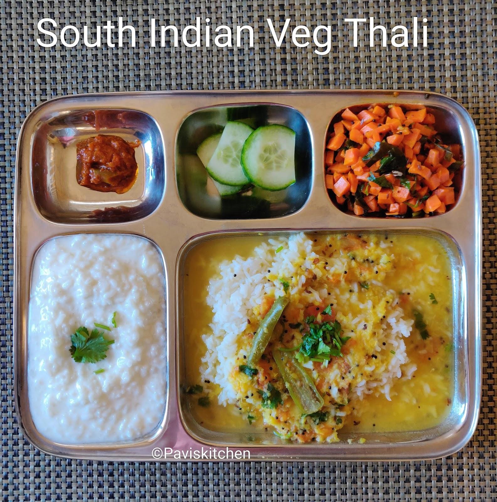 South Indian Veg Thali / Karnataka Bele Sarru Recipe/ Dal Rasam / Togari Bele Tovve