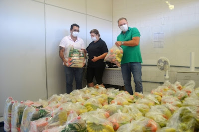 Registro-SP dá início à entrega de 1.800 cestas de alimentação para os alunos da rede municipal de ensino
