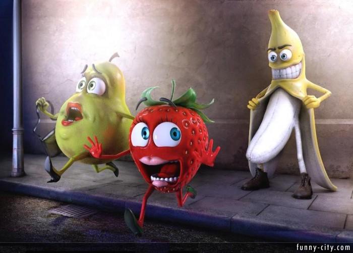 SOLO IMAGENES.: ¡Banana Exibisionista! Pobres De Pera Y