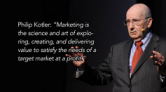 Philip Kotler nêu ra định nghĩa về marketing