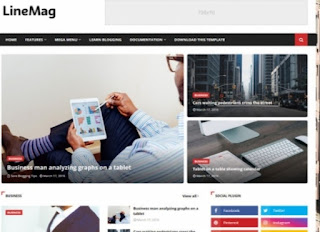 LineMag Magazine Blogger Templates free Download