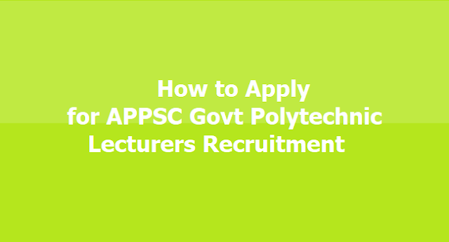 APPSC Lecturers Recruitment