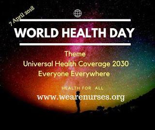 health day,theme is Universal health coverage everyone everywhere ,health for all,health,day,wearenurses,nurse,nursing