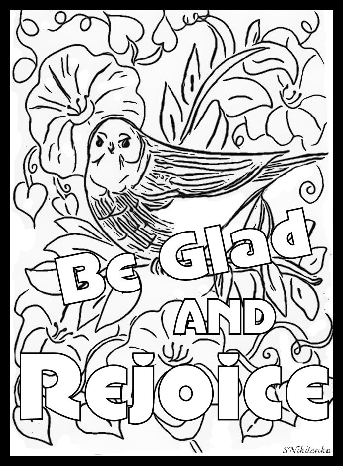 rejoice coloring pages - photo#3
