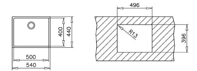 CHẬU RỬA TEKA BE LINEA R15-50.40