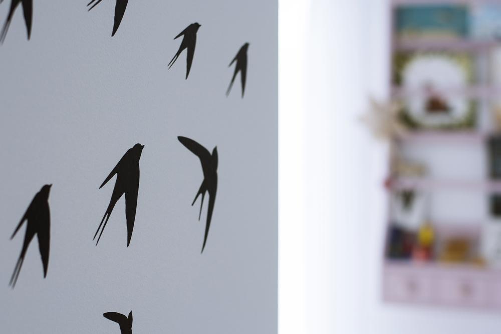 ptaki na ścianie