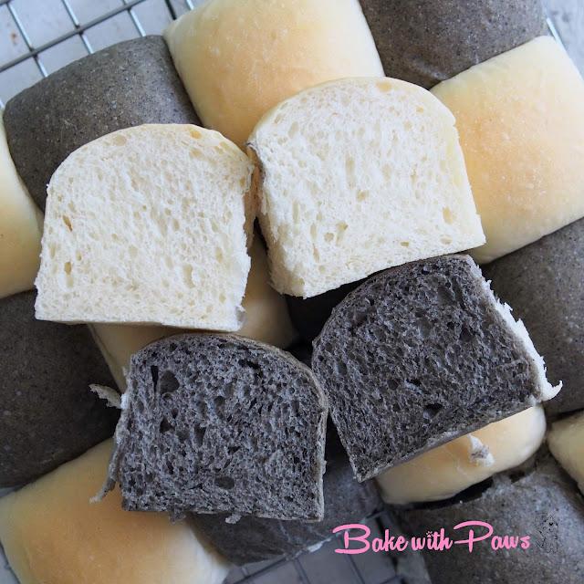 Black Sesame Sourdough Discard  Buns