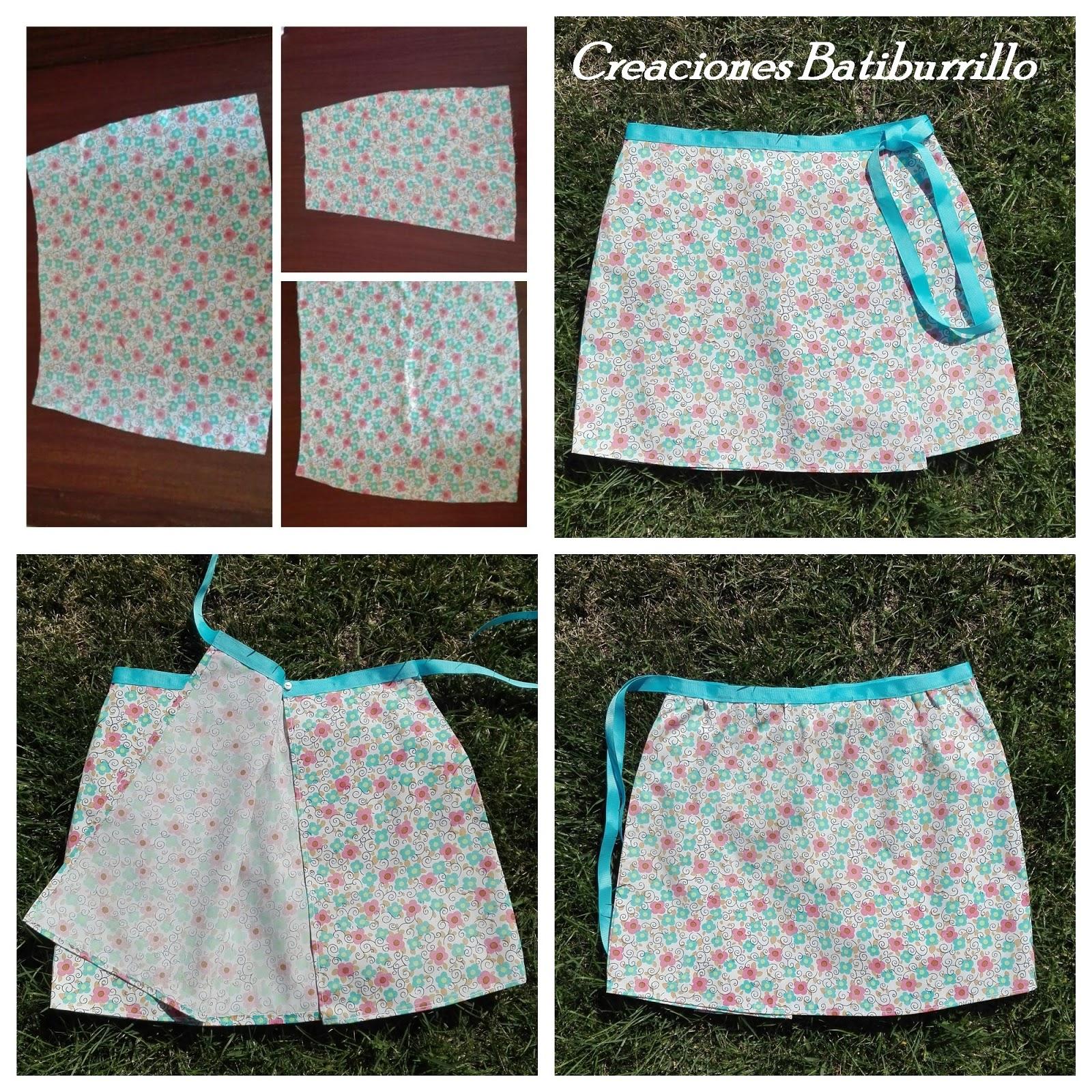 085cb0bda1 Siguiendo con la costura fácil y la ropa fresquita de verano  una falda  cruzada que se cose en un plis-plas.