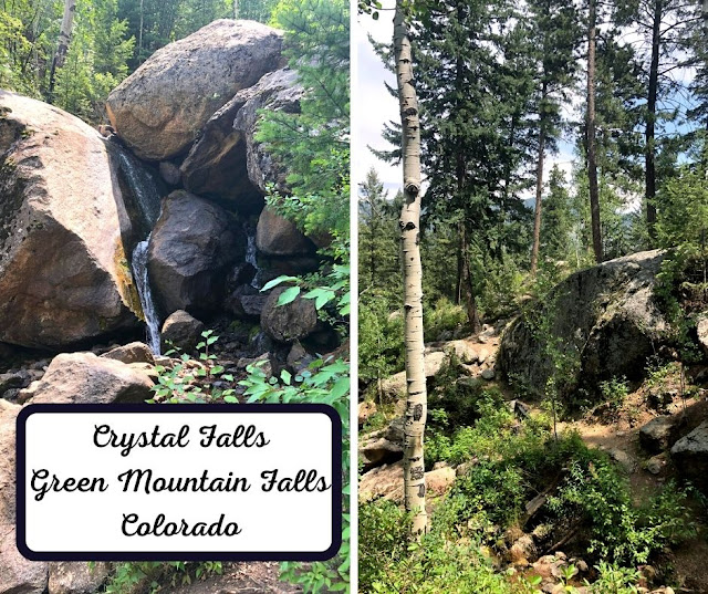Discovering Crystal Falls in Green Mountain Falls on the side of Pikes Peak in Colorado