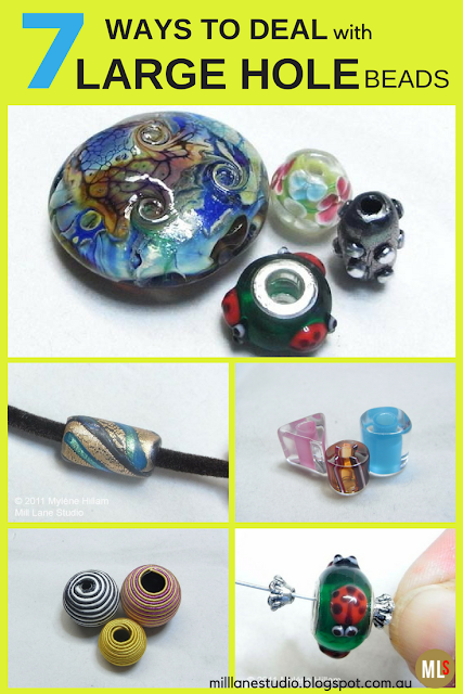 Inspiration sheet with ideas on how to string large hole beads