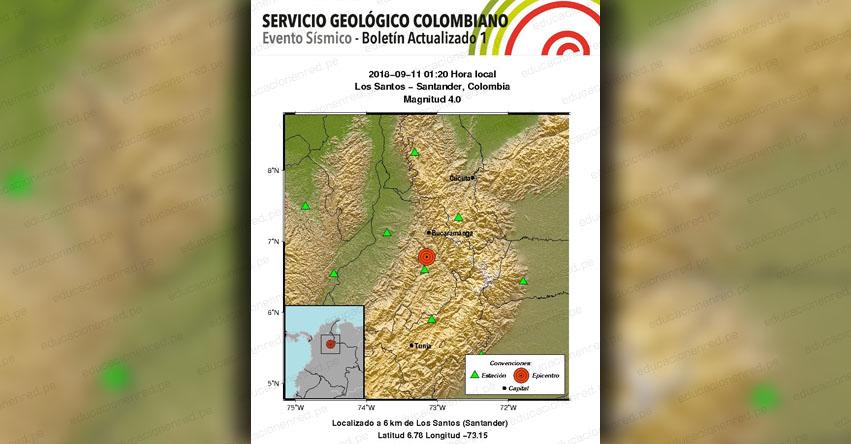 Sismo en Colombia Magnitud 4.0 (Hoy Martes 11 Septiembre 2018) Temblor Terremoto EPICENTRO - Los Santos - Santander - Pasto - Bucaramanga - Nariño- www.sgc.gov.co