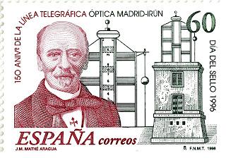 150 ANIVERSARIO DE LA LINEA TELEGRÁFICA ÓPTICA MADRID-IRÚN