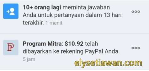 pembayaran uang mitra quora minimal 10$