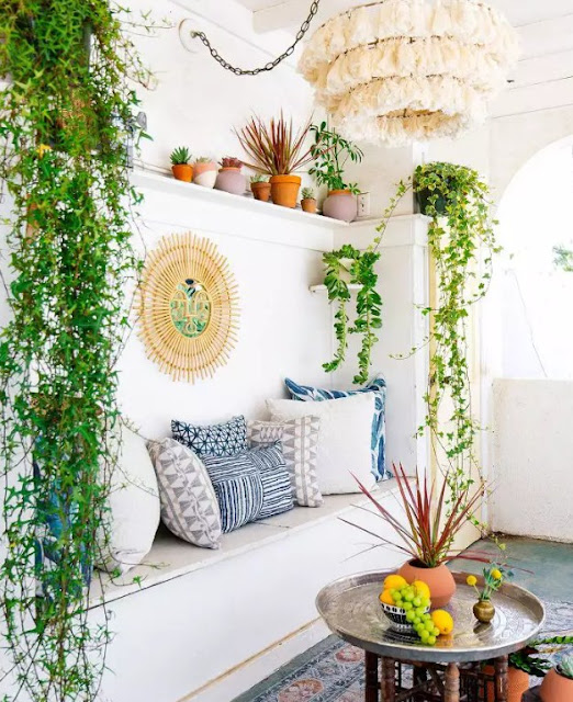 beautiful green plants inside for a true bohemian feel