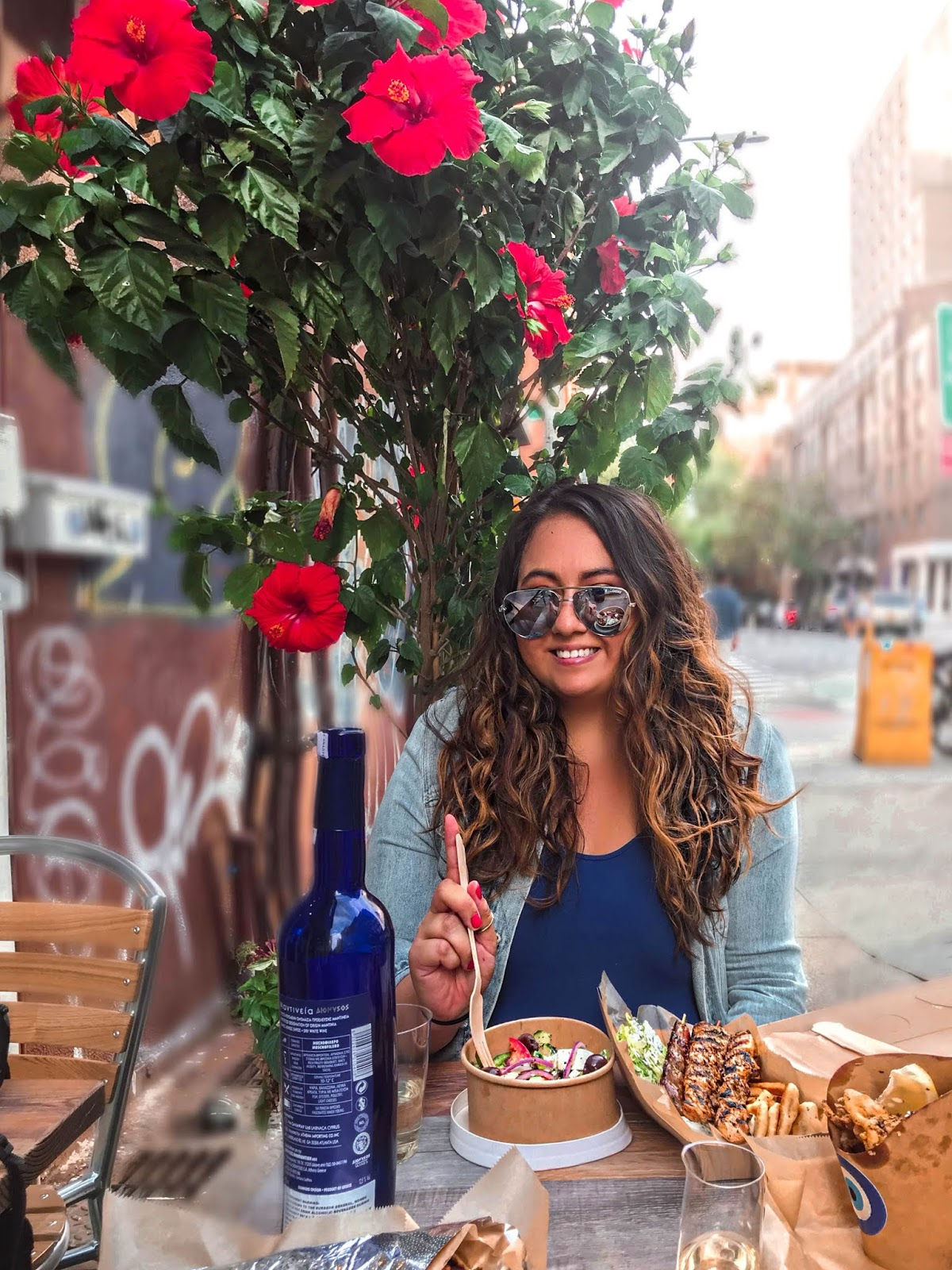 iSouvlaki NYC, Latinx Travel Blogger, NYC Outdoor Dining