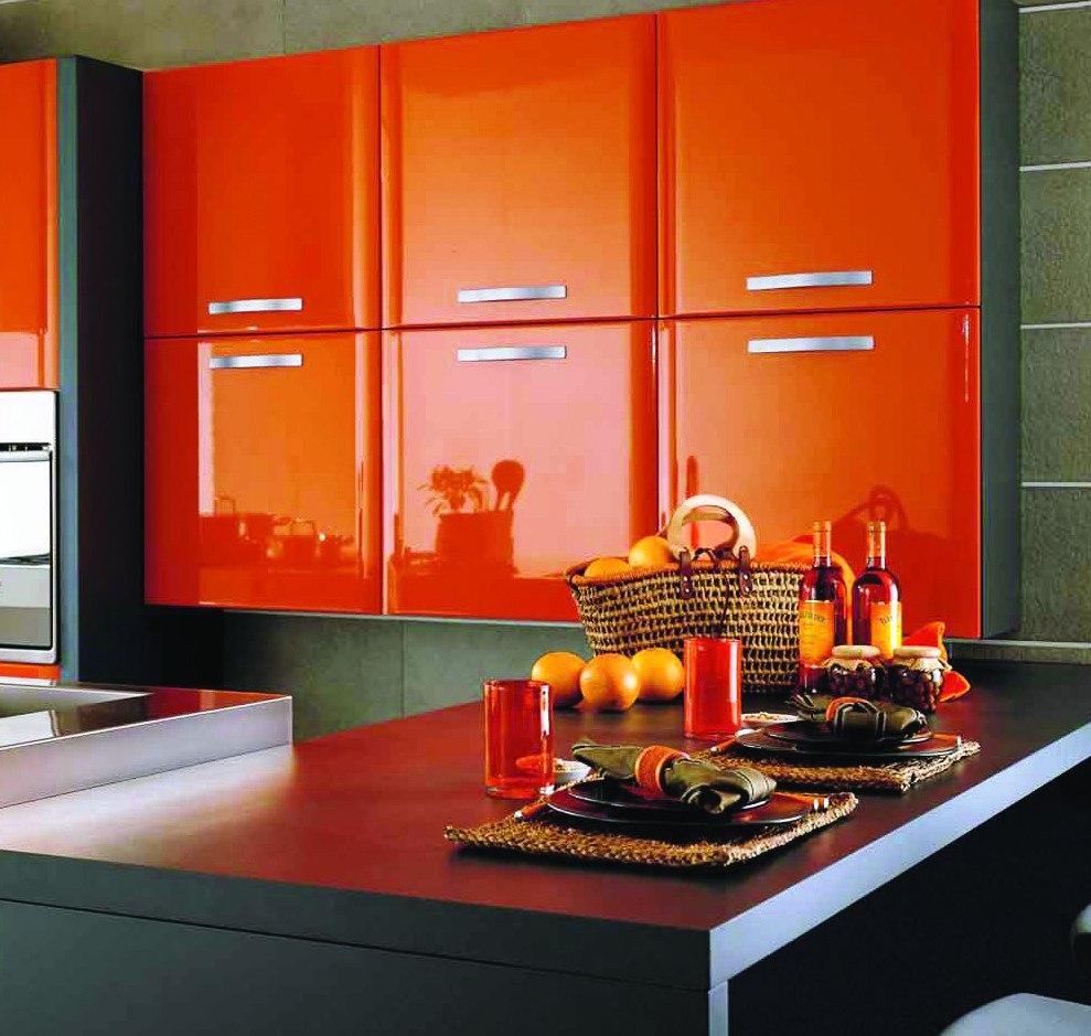 Orange Kitchen Cabinets Decorating Ideas