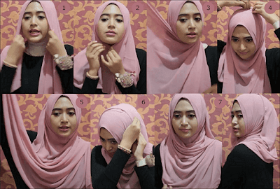 Tutorial Hijab Simple ala Natasha Fanani, Tutorial Hijab Simple Keren