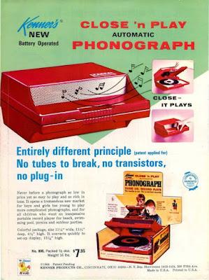 Kenner Close 'n Play Phonograph