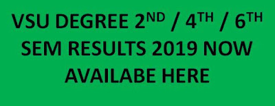 Manabadi VSU Degree Sem Results 2019 for 2nd 4th 6th Sem Declared 1