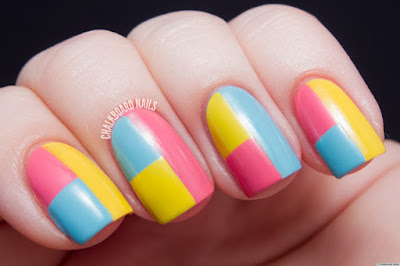 Manicure of Spring Color Tape