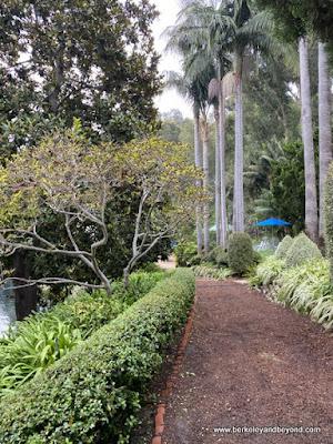 pathway at Lake Shrine Meditation Gardens in Pacific Palisades, California