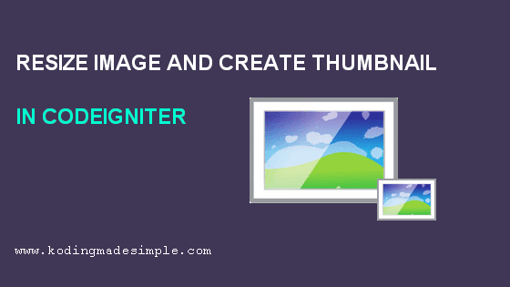 codeigniter resize image and create thumbnail