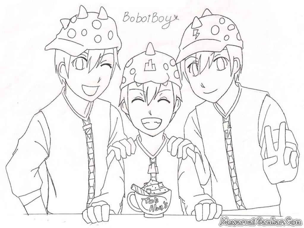 Gambar Mewarnai Ultraman Bliblinews Boboiboy Kartun Boboboy
