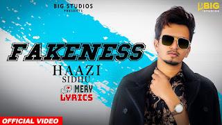 Fakeness By Haazi Sidhu - Lyrics