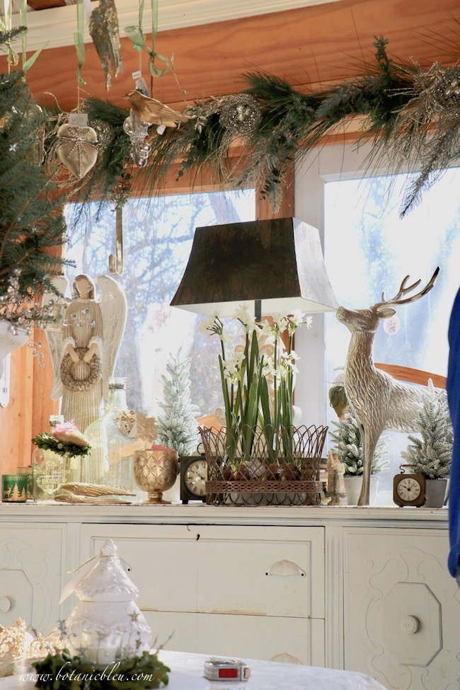 French Country Christmas Event 2019 buffet holds large items for sale