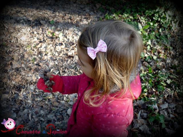 barrette noeud papillon, barrette anti glisse enfant Liberty Michael