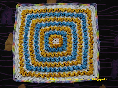Crochet wiggles square cushion 2