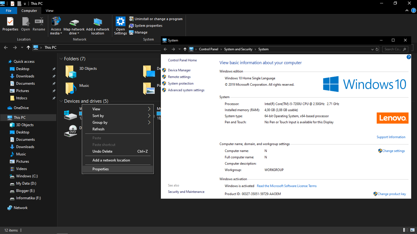 Cara Mengetahui Nama Komputer/Laptop Windows 10